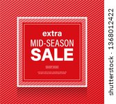 red sale banner with abstract... | Shutterstock .eps vector #1368012422