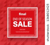 red sale banner with abstract... | Shutterstock .eps vector #1368012425