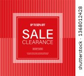 red sale banner with abstract... | Shutterstock .eps vector #1368012428