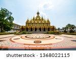 golden castle in tha sung... | Shutterstock . vector #1368022115