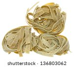 durum wheat semolina pasta with ... | Shutterstock . vector #136803062