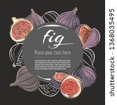 fig vector hand drawn healthy... | Shutterstock .eps vector #1368035495
