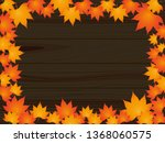 maple and tree frame | Shutterstock .eps vector #1368060575