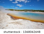 colorful hot water pool in the... | Shutterstock . vector #1368062648