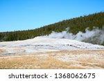 old faithful geyser eruption in ... | Shutterstock . vector #1368062675
