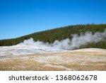 old faithful geyser eruption in ... | Shutterstock . vector #1368062678