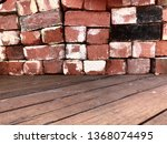Vintage Red Bricks On Recycled...