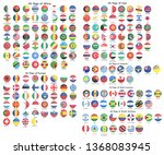 all official national flags of... | Shutterstock .eps vector #1368083945