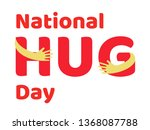 national hug day text in arms... | Shutterstock .eps vector #1368087788