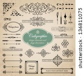 calligraphic design elements... | Shutterstock .eps vector #136811075
