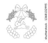 easter bunny outline on the... | Shutterstock .eps vector #1368132995