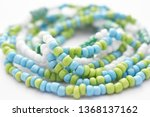 glass beads jewelry set on... | Shutterstock . vector #1368137162