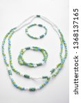 glass beads jewelry set on... | Shutterstock . vector #1368137165