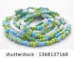 glass beads jewelry set on... | Shutterstock . vector #1368137168