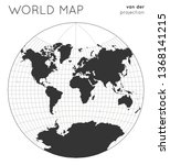 world map. globe in van der... | Shutterstock .eps vector #1368141215