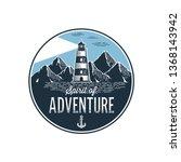 spirit of adventure. circle... | Shutterstock .eps vector #1368143942