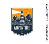 lighthouse emblem in vintage... | Shutterstock .eps vector #1368143945