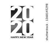 2020 happy new year text. cover ...   Shutterstock .eps vector #1368145298