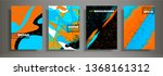set of modern abstract covers.... | Shutterstock .eps vector #1368161312