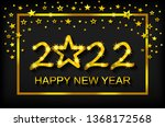 happy new year 2022   greeting... | Shutterstock .eps vector #1368172568