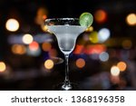 margarita cocktail on dark... | Shutterstock . vector #1368196358