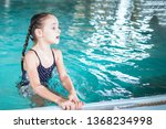 Beautiful Girl Swim And Having...
