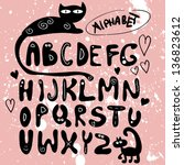 Funny Hand Drawn Alphabet Design