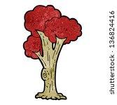 cartoon tree in fall   Shutterstock . vector #136824416