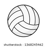 volleyball icon isolated on... | Shutterstock .eps vector #1368245462