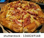 pizza hawaiian with cheese and...   Shutterstock . vector #1368269168