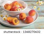 delicious ripe apricots in a... | Shutterstock . vector #1368270632