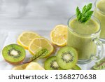 a freshly prepared smoothie of... | Shutterstock . vector #1368270638