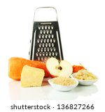 Metal Grater And Apple  Cheese...