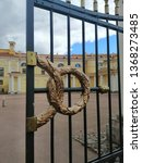 ornament of old metal gates of... | Shutterstock . vector #1368273485
