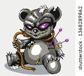 voodoo bear toy. teddy bear toy | Shutterstock .eps vector #1368289862