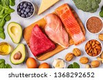 ketogenic diet concept.... | Shutterstock . vector #1368292652