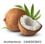 Fresh Raw Coconut With Palm...