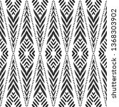 tribal seamless background.... | Shutterstock .eps vector #1368303902