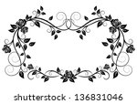 ornamental frame with rose... | Shutterstock .eps vector #136831046