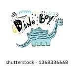 cute dinosaur color hand drawn...   Shutterstock .eps vector #1368336668