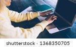 skilled woman spending time for ...   Shutterstock . vector #1368350705