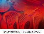 financial data on a monitor.... | Shutterstock . vector #1368352922
