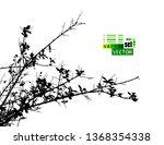 monochrome silhouette of tree... | Shutterstock .eps vector #1368354338