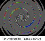 tv distorted rgb abstract... | Shutterstock . vector #1368356405