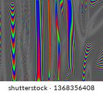 tv distorted rgb abstract... | Shutterstock . vector #1368356408