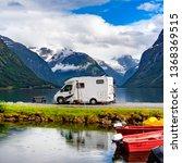family vacation travel rv ... | Shutterstock . vector #1368369515