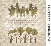 illustration of green... | Shutterstock .eps vector #136837466