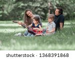 young family with children... | Shutterstock . vector #1368391868