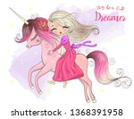hand drawn beautiful cute... | Shutterstock .eps vector #1368391958