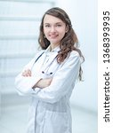 portrait of a female doctor of... | Shutterstock . vector #1368393935